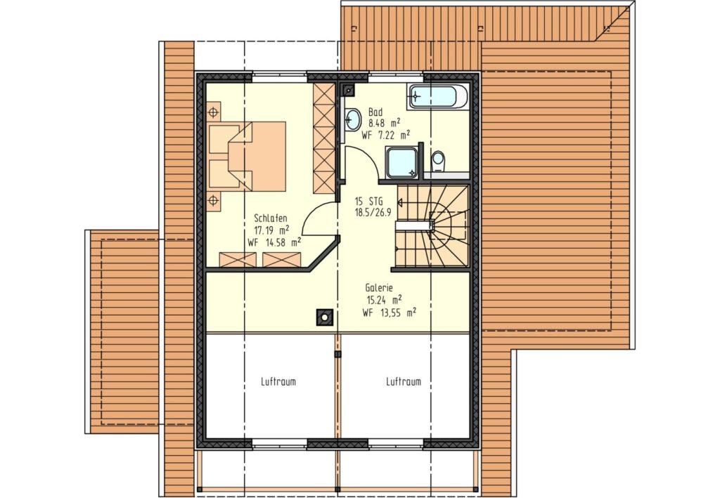 Grundriss DG 41 m²